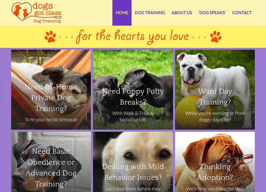 website design for Dogs Got Class