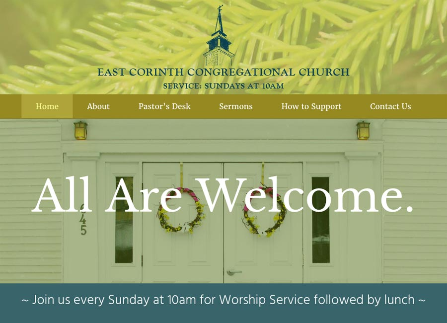 Web design - nonprofit church