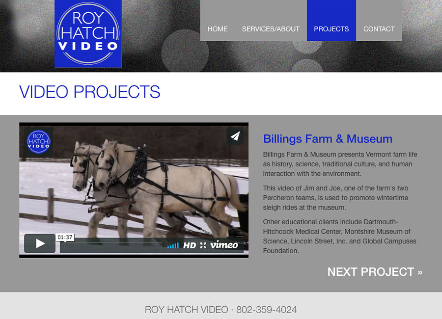 web design for small business - Roy Hatch Video