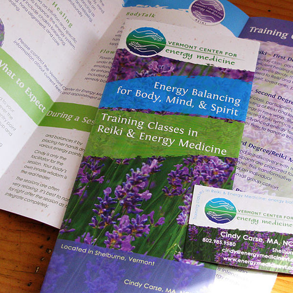Trifold brochure for Vermont Center for Energy Medicine