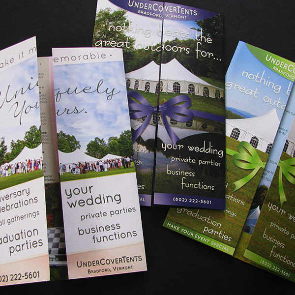 Gatefold brochures for Undercover Tents