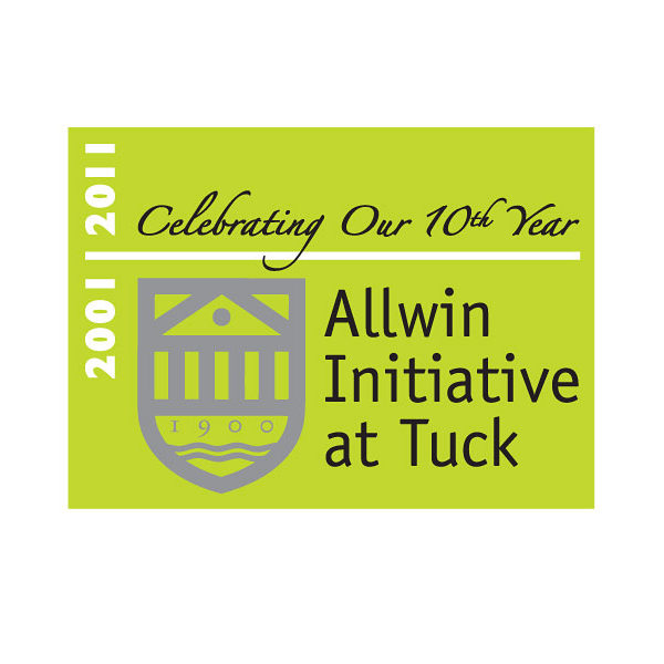 '2011 Anniv' add-on: Allwin Initiative, Tuck School of Business at Dartmouth College