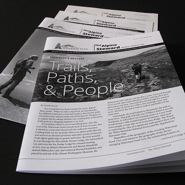 Annual newsletters for Waterman Fund