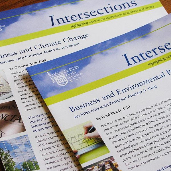 Newsletters for Allwin Initiative, Tuck School of Business at Dartmouth College