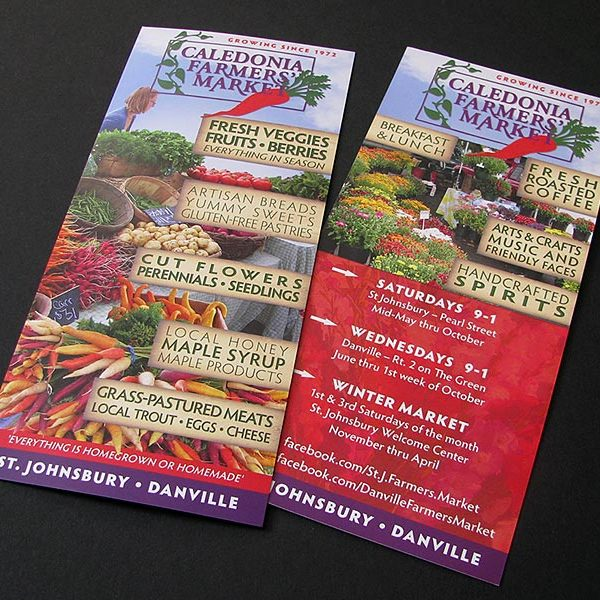 Rack card for Caledonia Farmers' Market