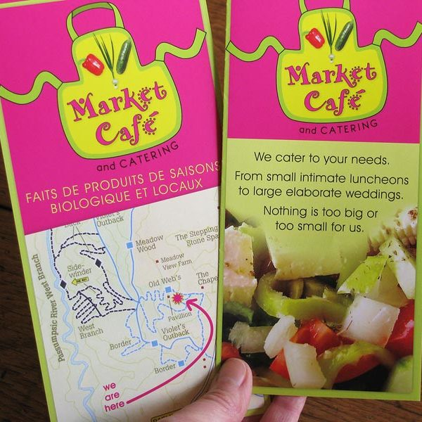 Rack card for Market Cafe