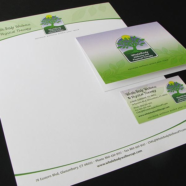 Stationery/card set for Wholebody Wellness & Physical Therapy